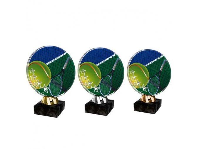 Akrylátová trofej CACL2103M12 Tenis