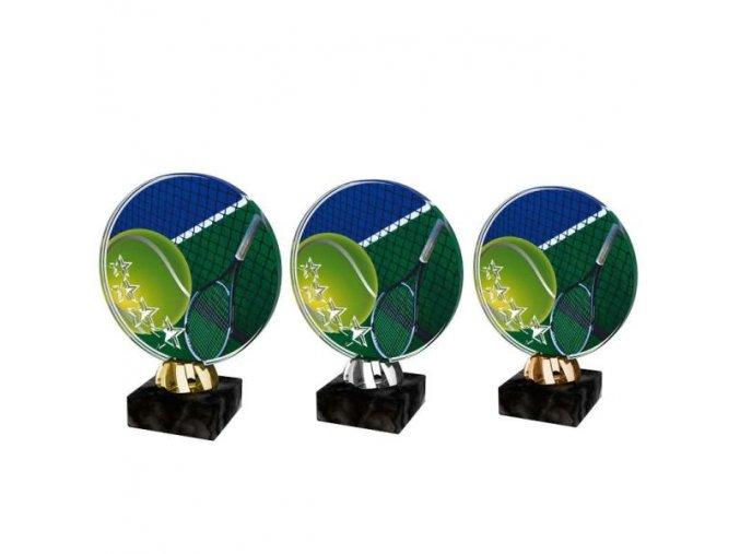 Akrylátová trofej CACL2103M13 Tenis