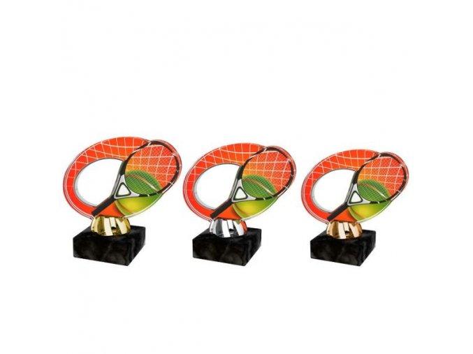 Akrylátová trofej CACL2102M8 Tenis