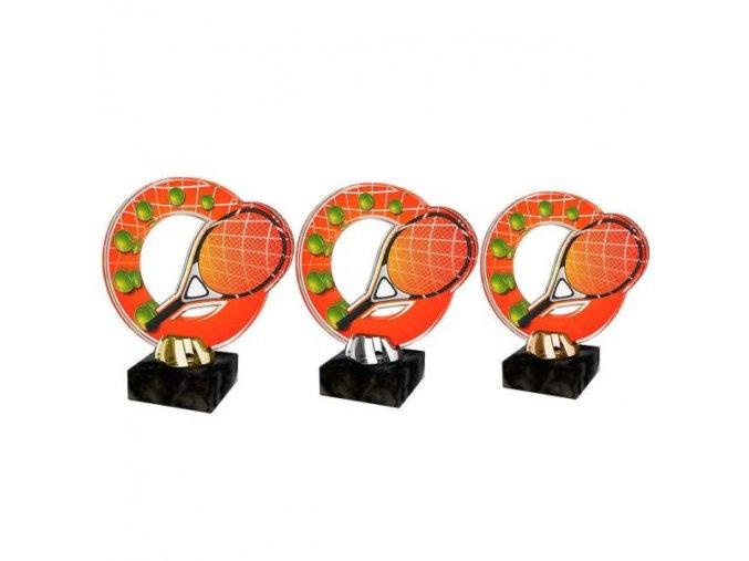Akrylátová trofej CACL2101M7 Tenis