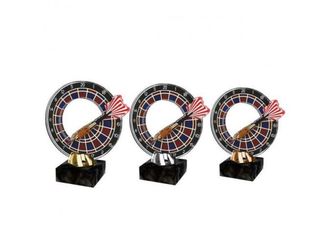 Akrylátová trofej CACL2101M34 Šipky