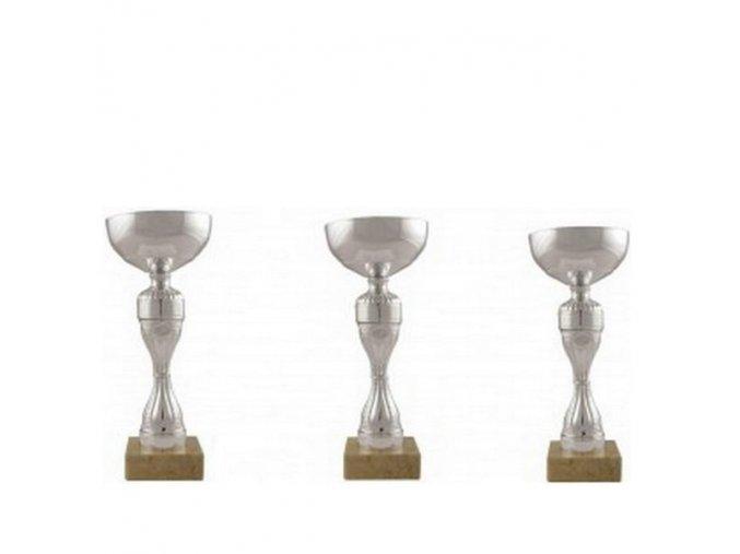 Ekonomická sada pohárů CS908 stříbrné sada 3ks