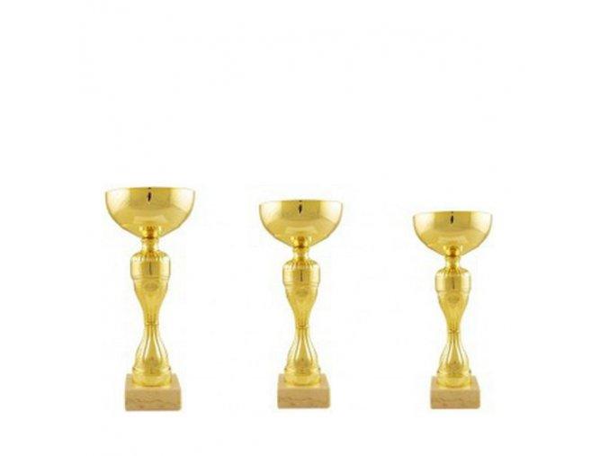 Ekonomická sada pohárů CS907 zlaté sada 3ks