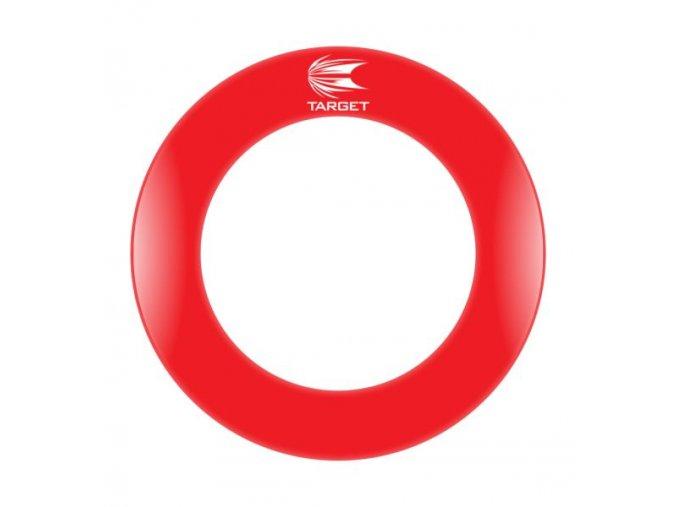 Pro Tour Dartboard Printed Surround red
