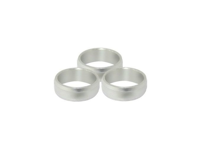 TITANIUM SLOT LOCK RINGS silver - kroužky