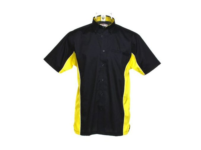 Košile CKK8185 black & yellow