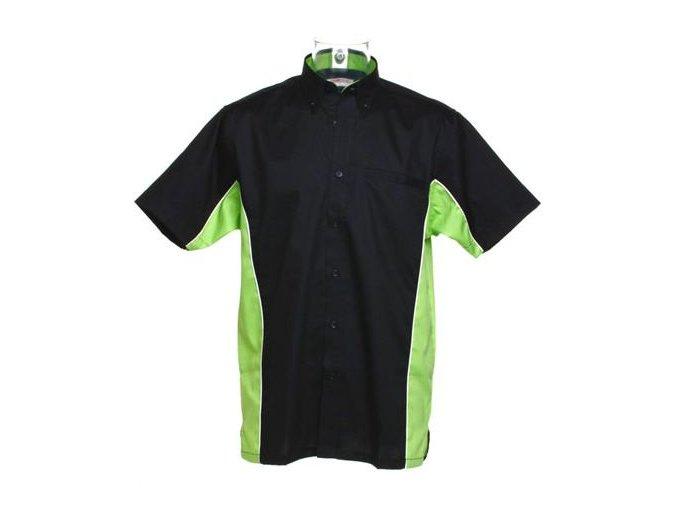 Košile CKK8185 black & lime