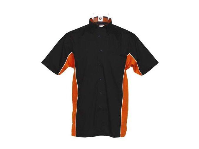 Košile CKK8185 black & orange