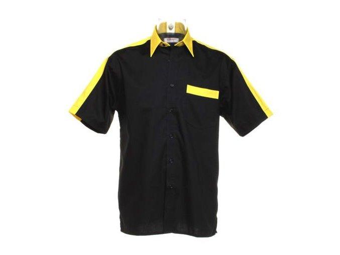 Košile CKK8175 black & yellow