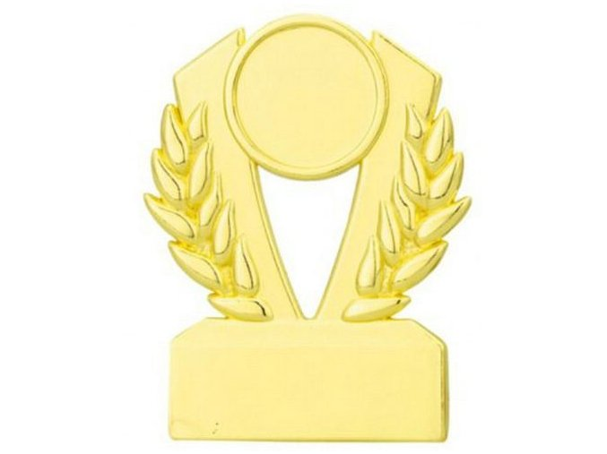 Plaketa  CQ10 zlatá  A zlatá výška 7,8cm,šířka 6cm