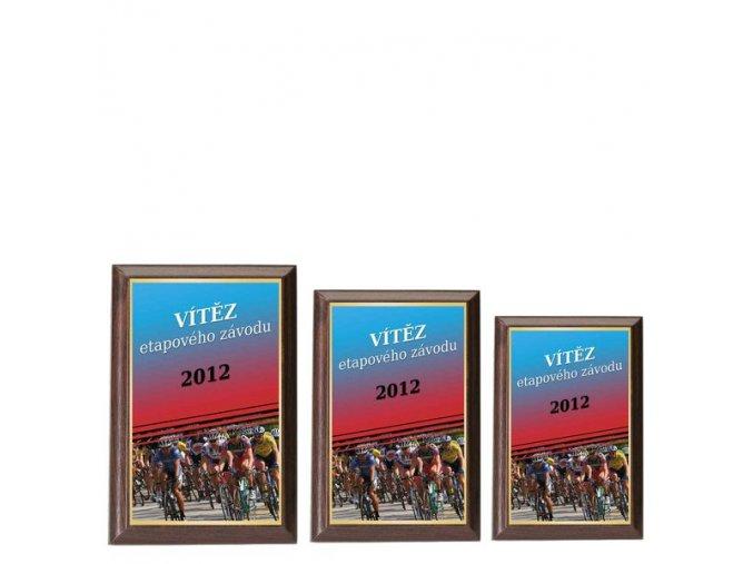 Plaketa  CPLP3M24 cyklistika