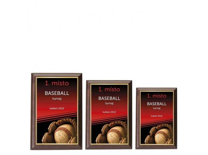 Plaketa  CPLP3M19 baseball