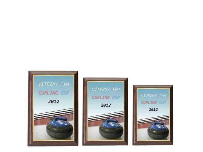 Plaketa  CPLP3M15  curling