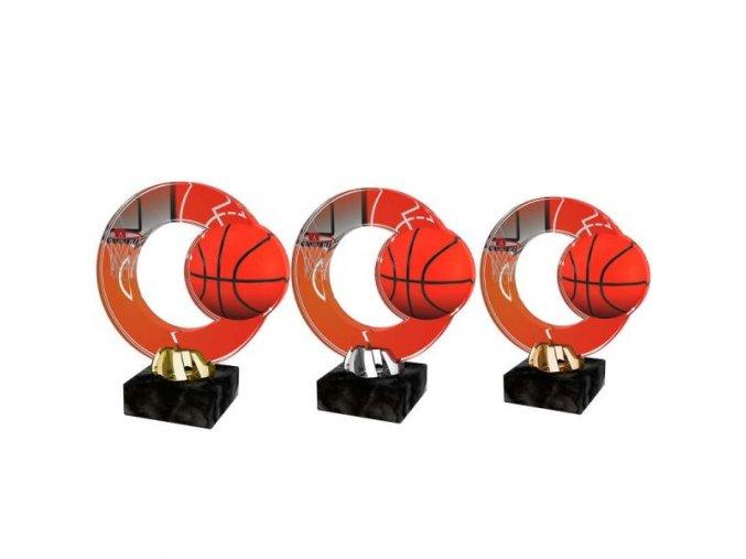 Akrylátová trofej CACL2101M8 Basketbal