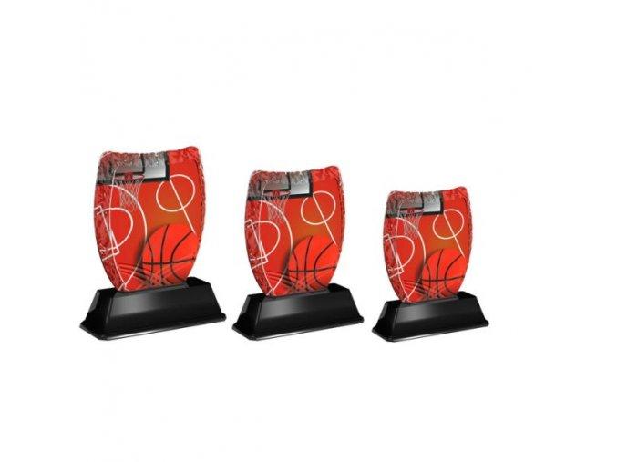 Akrylátová trofej ACE2001M7 Basket