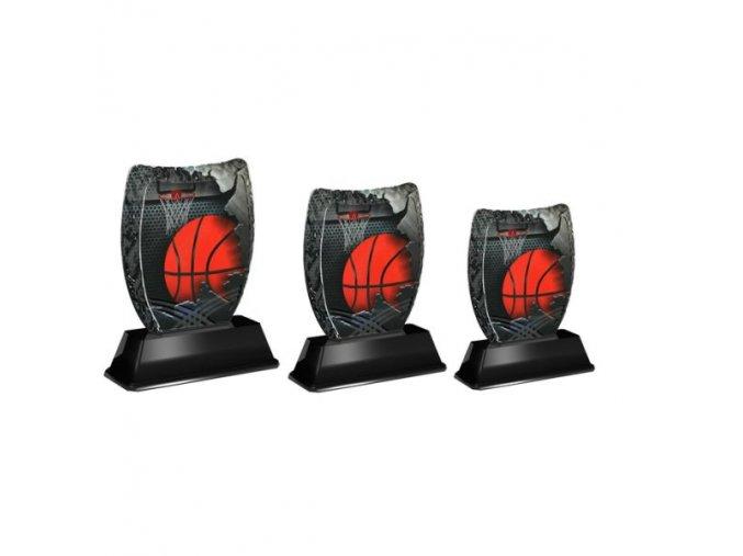 Akrylátová trofej ACE2001M08 Basket