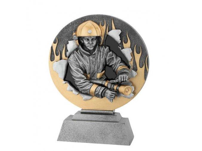 Trofej plaketa CRF2208 hasič   Výška 20cm