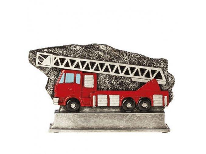 Trofej plaketa CRF2214 hasičské auto Výška 17cm, průměr 24cm