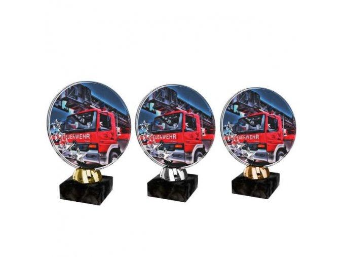 Akrylátová trofej CACL2103M43 Hasiči