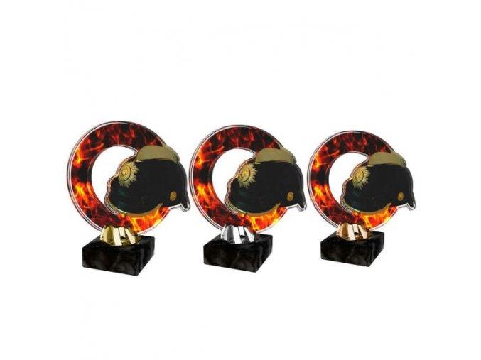 Akrylátová trofej CACL2101M40 Hasiči