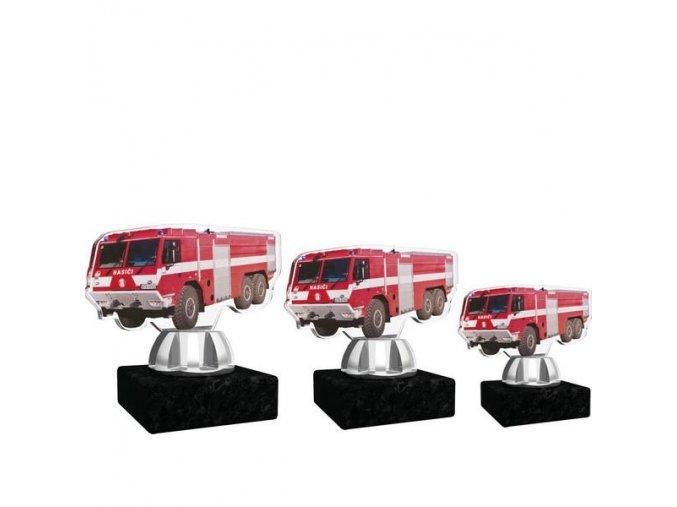 Akrylátová trofej CACT1201M18 hasiči