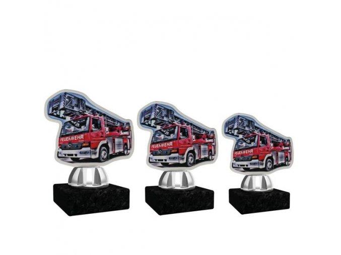 Akrylátová trofej CACT1201M19 hasiči