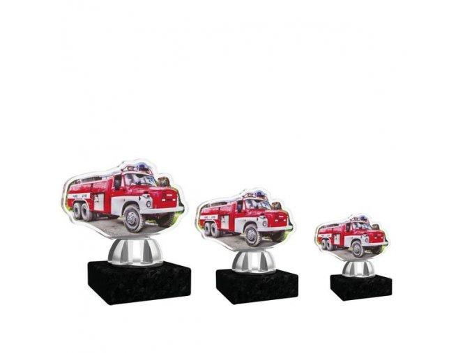 Akrylátová trofej CACT1201M17 hasiči