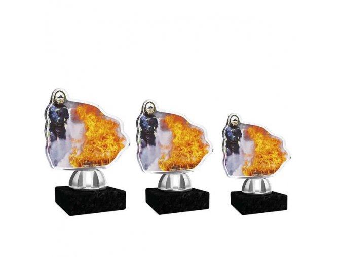 Akrylátová trofej CACT1201M16 hasiči