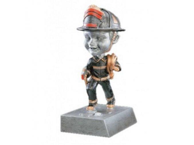 Trofej  CF52568  hasič  Výška 14 cm