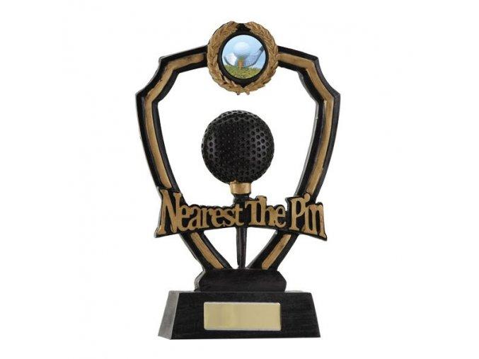 Trofej plaketa CRF0110 golfový míček Nearest The Pin Výška 18,5cm
