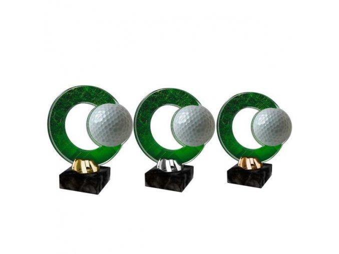 Akrylátová trofej CACL2101M12 Golf