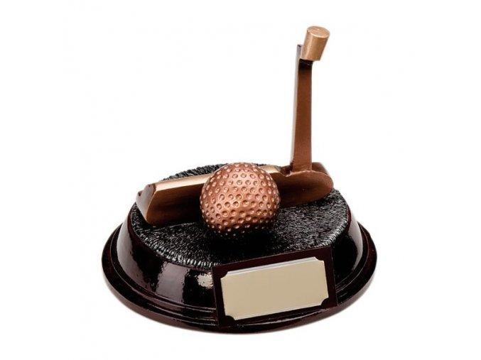 Trofej  CRF0188 golfová hole, golfový míček Výška 11cm