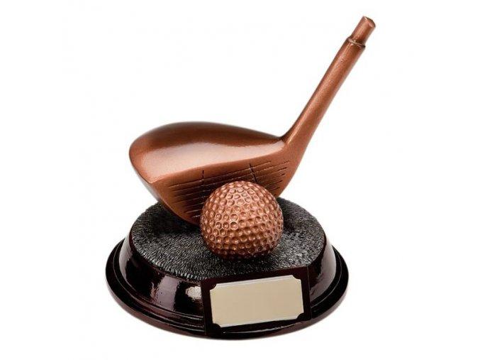 Trofej  CRF0199 golfová hole, golfový míček  Výška 13cm