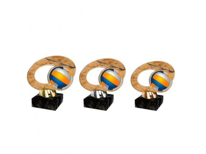 Akrylátová trofej CACL2102M19 Volejbal