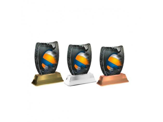 Akrylátová trofej ACE2002M17 Volejbal