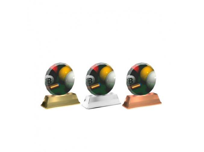 Akrylátová trofej ACE0003M29 Kulečník
