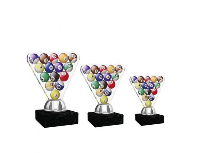Akrylátová trofej CACT1201M10 kulečník