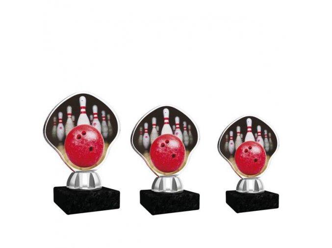 Akrylátová trofej CACT1201M8 bowling