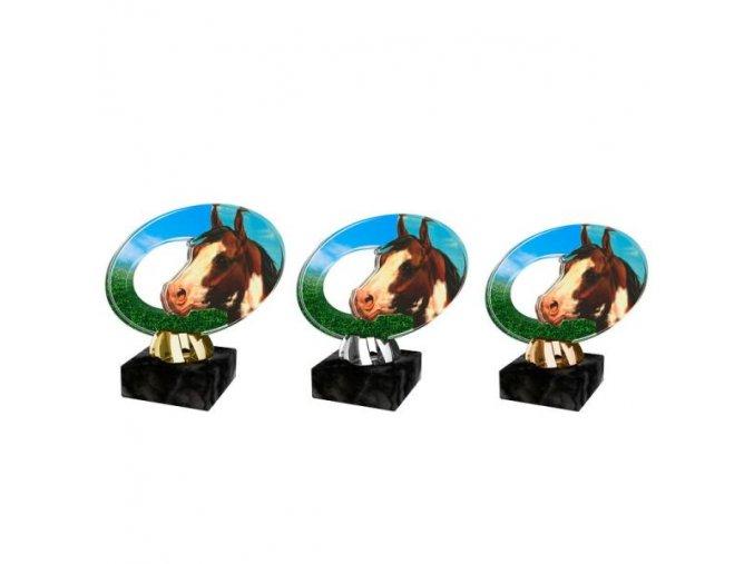 Akrylátová trofej CACL2102M26 Dostihy