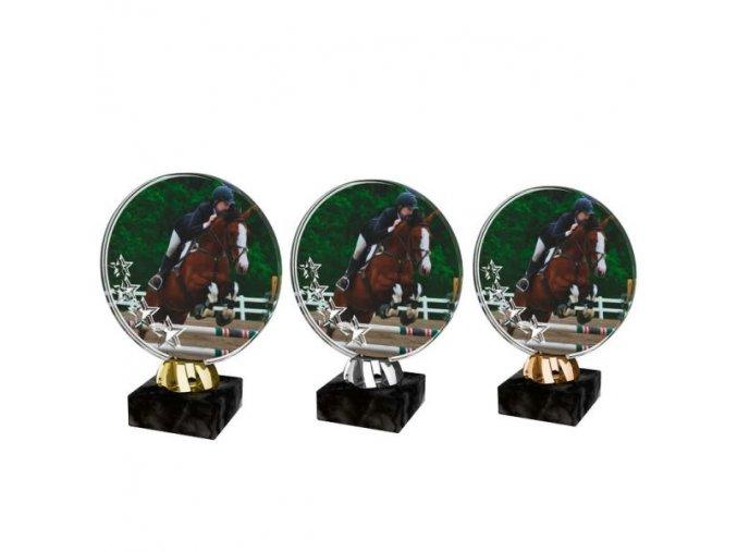 Akrylátová trofej CACL2103M38 Dostihy