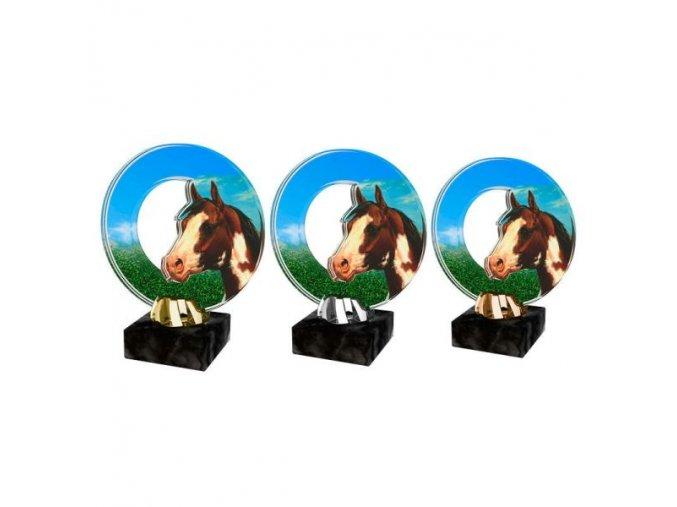 Akrylátová trofej CACL2101M24 Dostihy