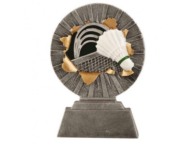 Trofej plaketa CRF2218 badmintonový míček, síť Výška 13cm