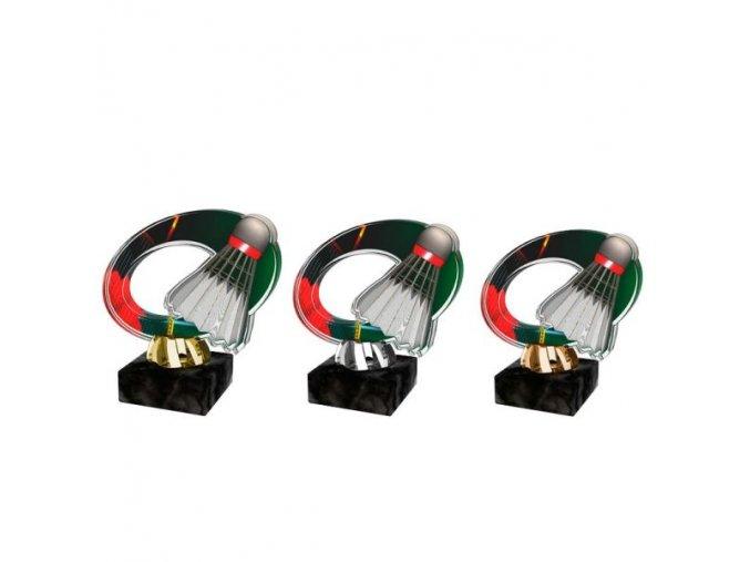 Akrylátová trofej CACL2102M18 Badminton