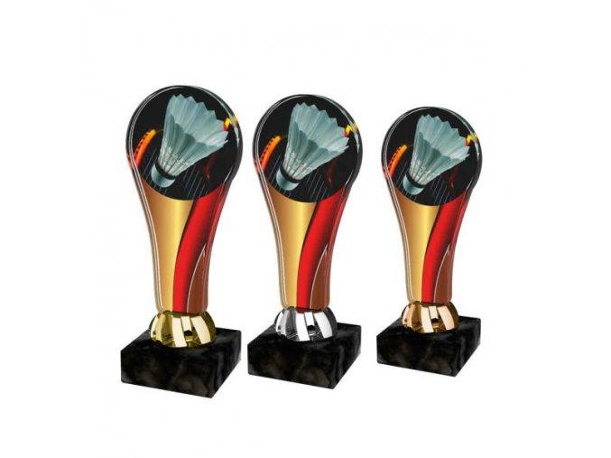 Akrylátová trofej ACL2100M20 Badminton