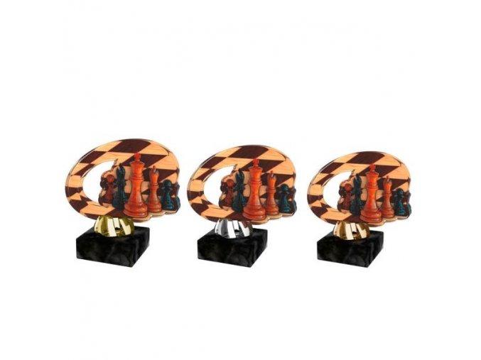 Akrylátová trofej CACL2102M34 Šachy