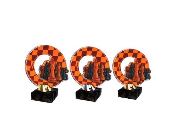 Akrylátová trofej CACL2101M32 Šachy