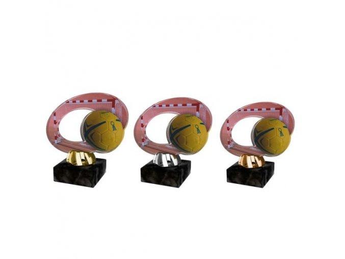 Akrylátová trofej CACL2102M17 Házená