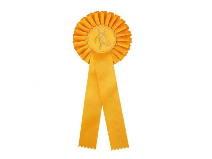 Kokarda jednořadá CK1 žlutá průměr 12,5 cm, délka 31 cm