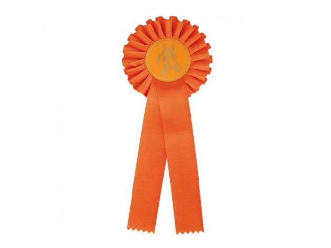 Kokarda jednořadá CK1 oranžová průměr 12,5 cm, délka 31 cm