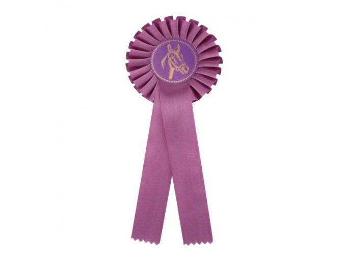 Kokarda jednořadá CK1 fialová průměr 12,5 cm, délka 31 cm